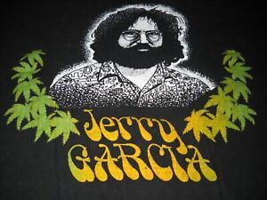 JERRY-GARCIA-BAND-PHOTO-GRATEFUL-DEAD-MARTYJUANA-POT-WEED-CONCERT-T-SHIRT-RARE