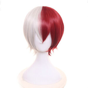 Anime-Exhibition-Animation-Characters-Cosplay-Wig-Red-and-White-Short-Hair-FA