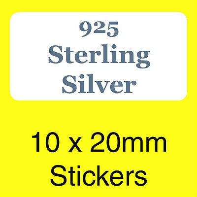 Jewellery Box Labels // Stickers 925 Sterling Silver 9ct Gold Silver Plated
