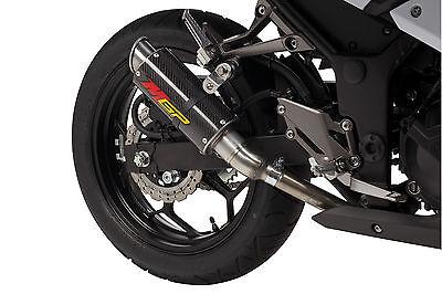 2013-2015 Ninja 300 MGP Growler Carbon Fiber Exhaust Slip On Hotbodies 2014