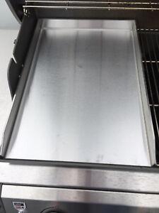 edelstahl plancha f r gasgrills grillplatte griddle plate weber napoeon bbq ebay. Black Bedroom Furniture Sets. Home Design Ideas