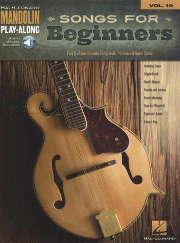 Songs for Beginners Mandolin Play-Along TAB music Book with Audio