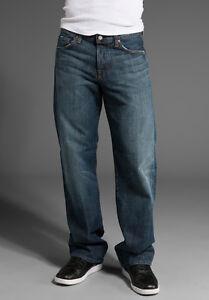 $169 Men/'s Seven 7 For All Mankind Standard Straight Leg Jeans Dark Wash 28 NWT