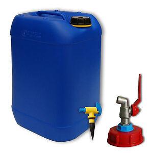 1x kanister wasserkanister 20 liter blau mit metallhahn. Black Bedroom Furniture Sets. Home Design Ideas