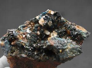4917-Lazulith-lazulite-Quarz-Siderit-Rapid-Creek-mineraux-Yukon-Kanada-Canada