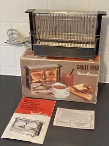 MOULINEX Vintage GRILLE PAIN TOASTER 70's Type 154 Cuisine Rétro Très Bon État