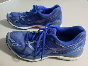 Asics-Gel-Nimbus-19-Blue-Women-Running-Shoes-Sneakers-T750N-Size-9-5-9-1-2