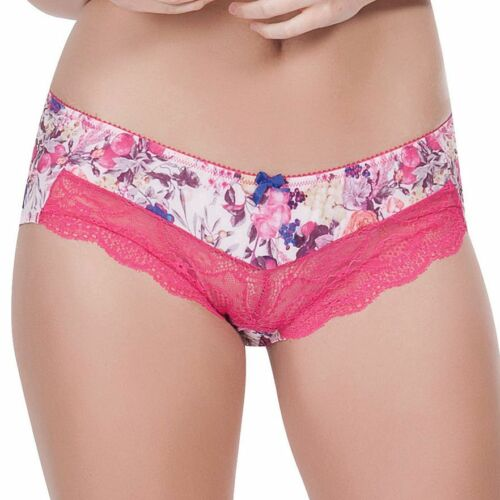 NWT $28 Parfait by Affinitas Delphine Hipster Panty #4105 Spring Print Small 2X
