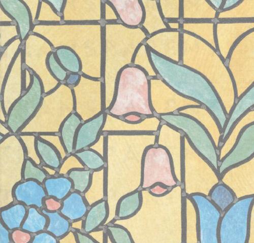 Bunte Fensterfolie Nizza Adhesive Klebefilm Bleiglas Look 0,90 x 2 m bunt