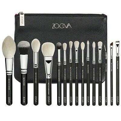 ZOEVA Rose Golden Complete Makeup Cosmetic Eye Power Brushes Set with Package AU