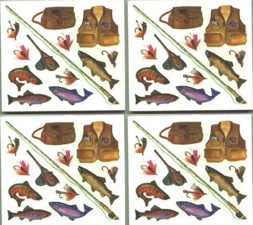 FISH Trout Lures Frances Meyer FISHING Scrapbook 4 Sheets Stickers