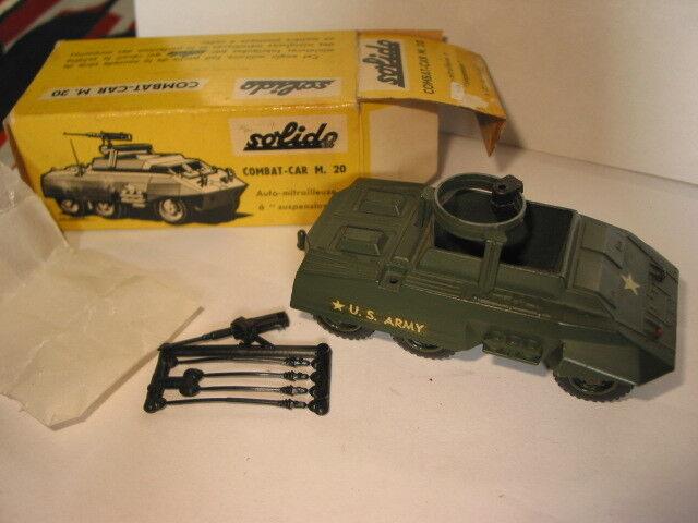 Solido combat voiture m.20 us army  nouveau box ref. 200  livraison gratuite et échanges.