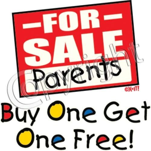 Parents for Sale Buy one get one free Funny Boys Girls Kid/'s T-shirt Youth k61