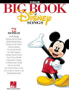 Details about The Big Book of Disney Songs for Violin Solo Kids Sheet Music  Hal Leonard NEW