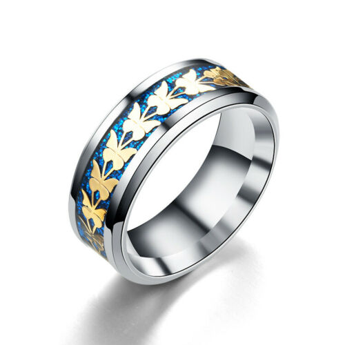 Acier Inoxydable Papillon Anneaux Queue Bague minimaliste Femmes//Hommes Cadeau Bijoux Nouveau