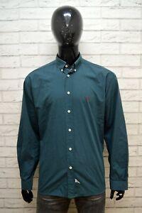 RALPH-LAUREN-Camicia-Uomo-Taglia-2XL-Maglia-Manica-Lunga-Polo-Hemd-Shirt-Man