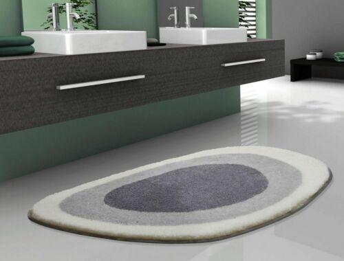 Designer Badteppich Matte Wannenvorlage Lake Extrasoft silbergrau 3 Größen