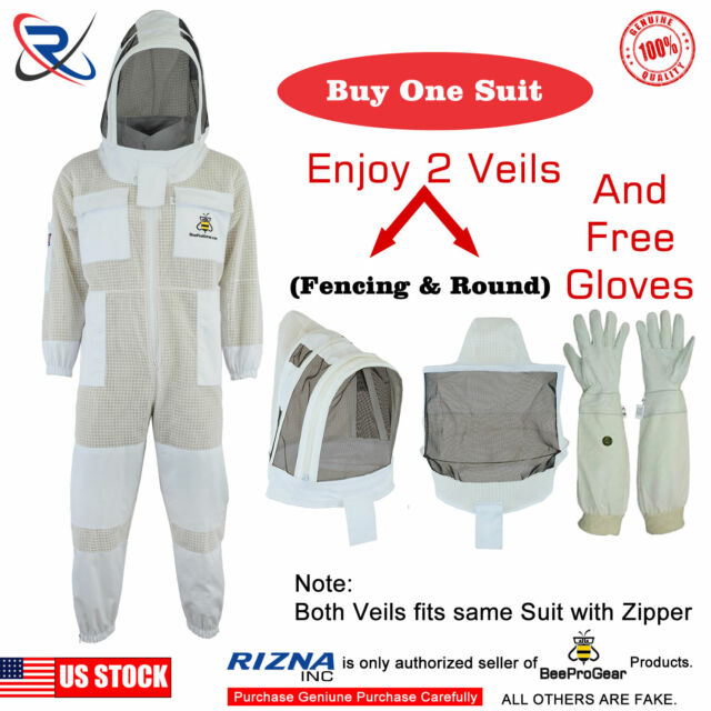 M Beepro beekeeper beekeeping jacket veil outfit protective Astronaut Veil hood