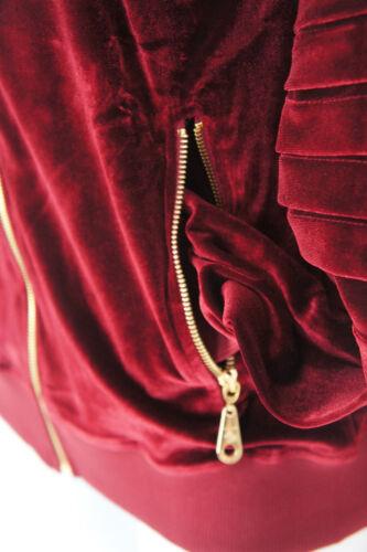 Velluto In Hop Burgundy Biker Time Is Street Tuta Hip Money Donna Abbigliamento 4FxwEqn5n