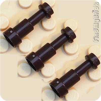 U003A x3 Lego Minifigure Utensil Telescope - Dark Brown - Lot of 3 NEW