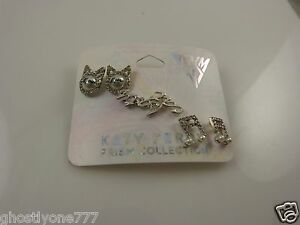 Katy-Perry-Prism-silver-tone-earrings-cat-music-note-and-katy-kitty