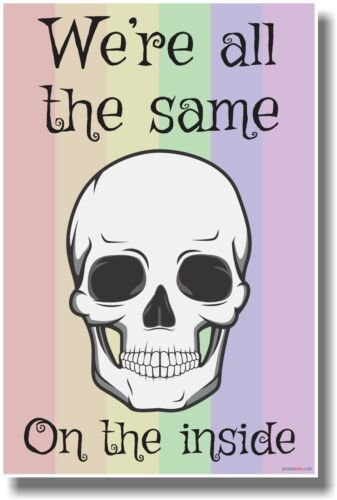 We/'re All the Same on the Inside Gay Pride Flag NEW Motivational Poster