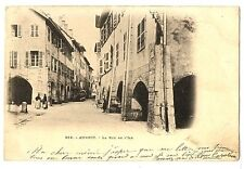 CPA 74 Haute-Savoie Annecy Rue de l'Ile animé