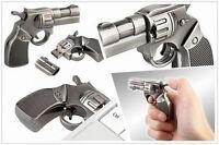 Revolver Usb Stick 4 Gb Massive Stahl Ausführung Gun Speicherkapazität Pc Top