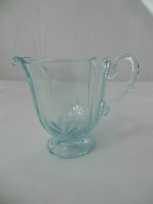 Fostoria Blue Baroque small individual footed creamer