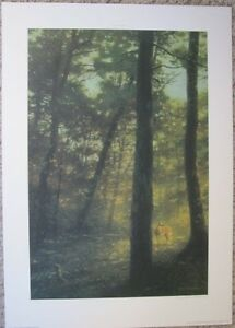 1989 george luther schelling sounds of the forest signed print 102 600