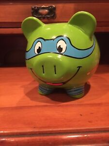 Teenage Mutant Ninja Turtles Piggy Bank Fab Starpoint New York Ebay