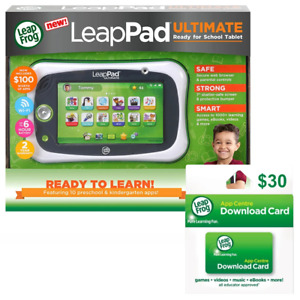 LeapFrog LeapPad Ultimate Get Ready for School Tablet Green with Bonus 30 Downlo