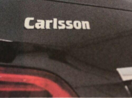"""/""""NEW/""""CARLSSON CHROME LOGO REAR BOOT BADGE EMBLEM Made In Germany OEM #99500125"""