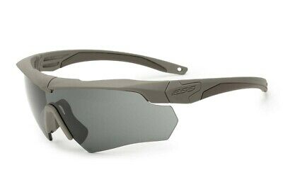 ESS Sunglasses Crossbow 2x Kit Desert Tan w// Interchangeable Clear /& Smoke Lens
