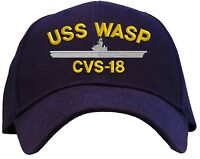 Uss Wasp Cvs-18 Embroidered Baseball Cap - Available In 7 Colors Hat