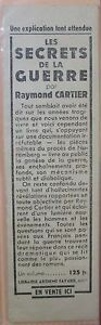 Antique-Brand-Pages-Bookmark-Advertising-cross-Red-Raymond-Cartier-Roman-Guerre