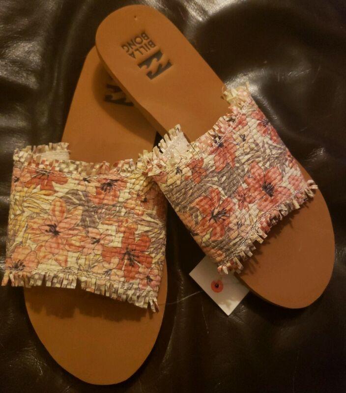 8 Black//White Women/'s Billabong Salty But Sweet Sandals