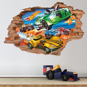 Hot Wheels Jumping Car Movie Custom Vinyl Wall Decals Peel /& Stick OP72