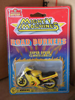 Mighty Machines Road Burners Super Speed Wheelers Yellow Motorcycle