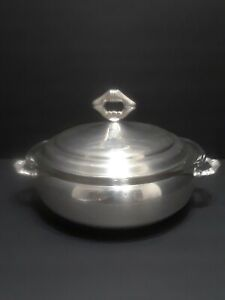 Antique Silver Plated Covered Casserole, Pyrex  Insert, Sheffield Silver Co.