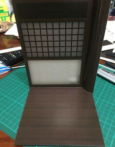 "GD-02-1/12: FIGLot 1/12 Scale Paper-craft Diorama Dojo for 6"" Action figures"