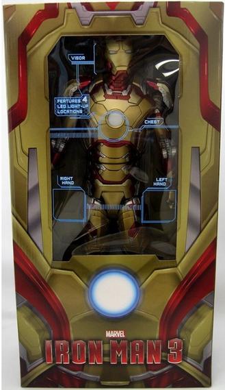 Marvel Neca Iron uomo 3 Mark 42 1 4 Scale azione cifra