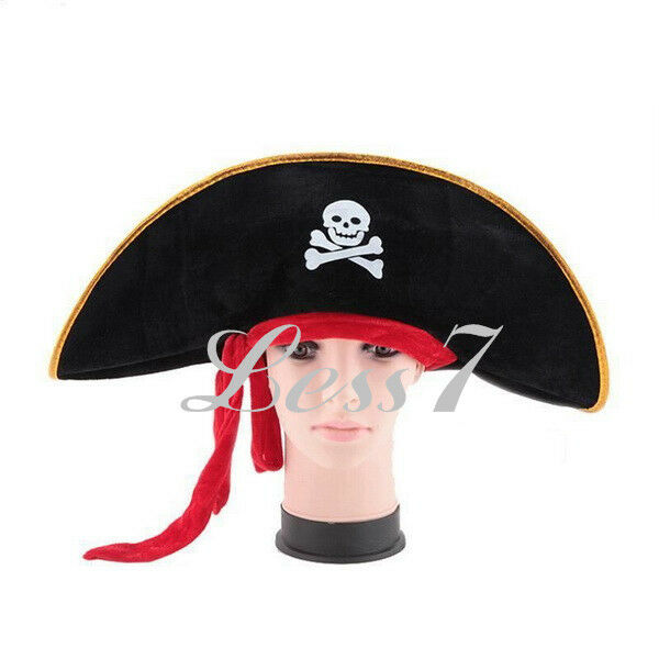 High Quality Halloween Party Pirate Hat Captain Cap Handsome Costume Cosplay