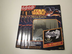 Darth-Vader-Tie-Fighter-Authentic-Star-Wars-3D-Steel-Model-Metal-Earth-MMS253
