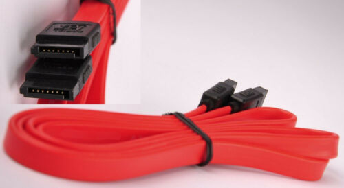 "Lot5 40/"" Long Serial ATA//SATA internal HD//CD//DVDRW Cable//Cord//Wire 150mbs {RED"