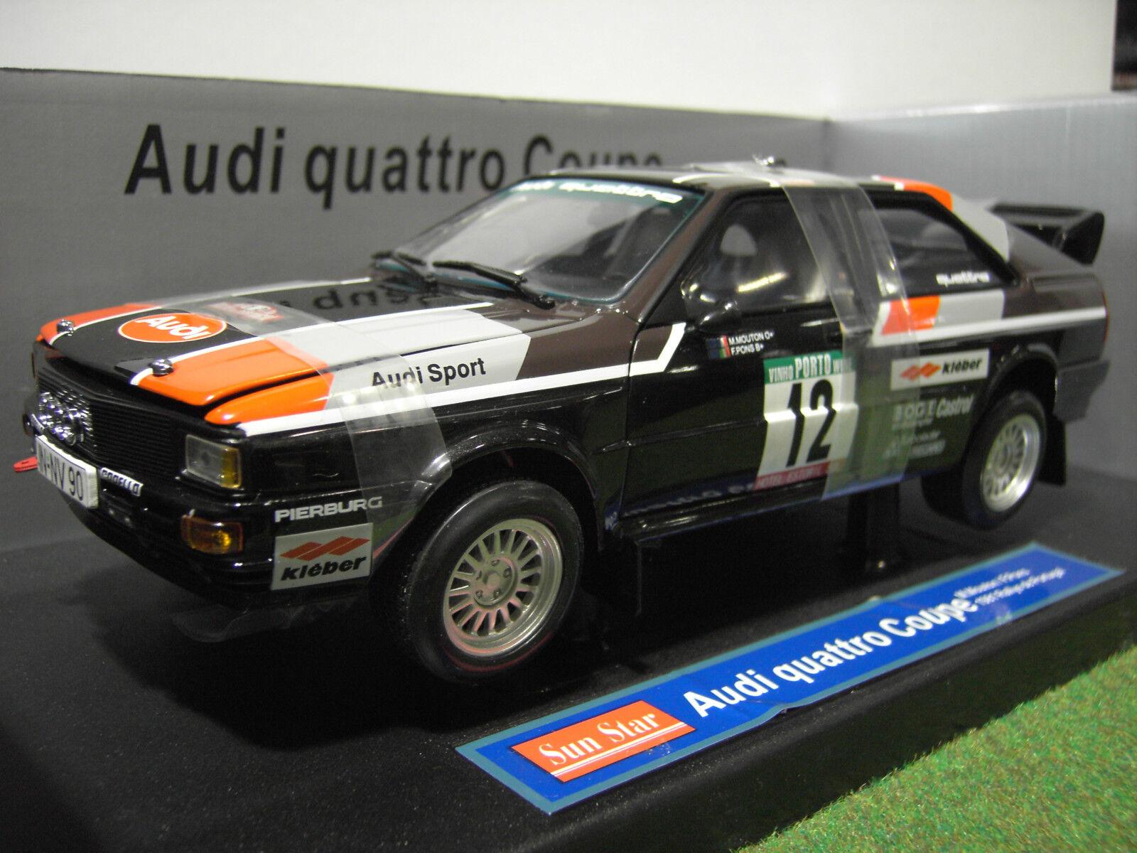 AUDI QUATTRO coupé RALLYE Portugal 1981 au 1 18 SUNSTAR 4184 voiture miniature