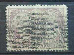 Canada-1897-Queen-Victoria-039-s-Diamond-Jubilee-Mi-50-Scott-62-2-dollars-used