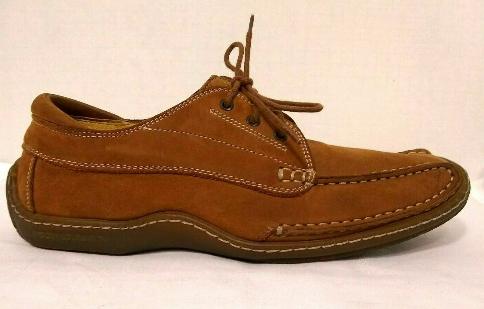 Women's DONALD PLINER SPORT Leather Driving Loafer Oxford Moc Sz-7-M Italy f451