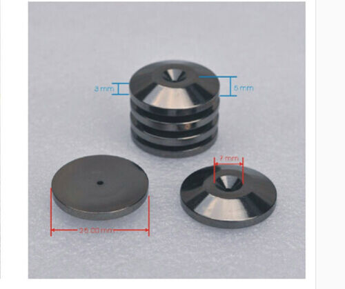 4pcs M6 36 Copper Nickel-plated Speaker spikes Isolation Spike Stand Foot Pad