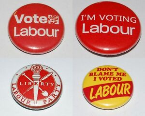 Political Party General Election 59mm Button Badge Various Designs